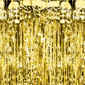 Kurtyny foliowe - Kurtyna imprezowa złota / 100x250 cm