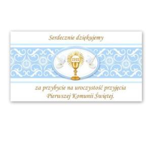 Bileciki, karteczki i naklejki - Bileciki / podziękowania dla gości I Komunia Święta / PDG26