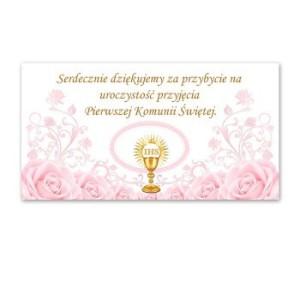 Bileciki, karteczki i naklejki - Bileciki / podziękowania dla gości I Komunia Święta / PDG25