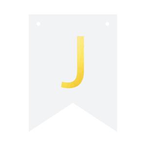 Literki do girlandy DIY - Baner DIY - litera J