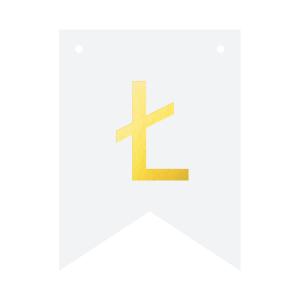 Literki do girlandy DIY - Baner DIY - litera Ł