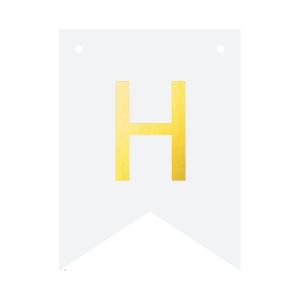 Literki do girlandy DIY - Baner DIY - litera H