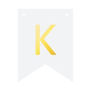 Literki do girlandy DIY - Baner DIY - litera K