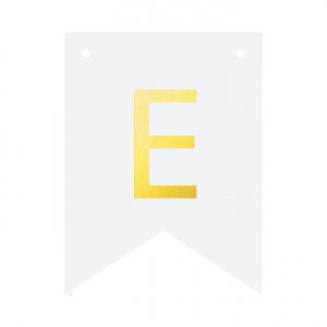 Literki do girlandy DIY - Baner DIY - litera E