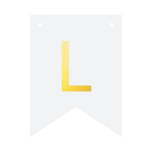 Literki do girlandy DIY - Baner DIY - litera L