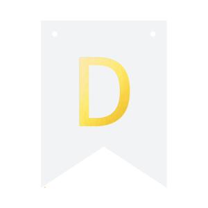 Literki do girlandy DIY - Baner DIY - litera D