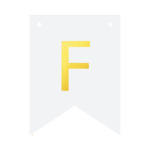 Literki do girlandy DIY - Baner DIY - litera F