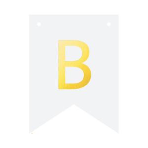 Literki do girlandy DIY - Baner DIY - litera B