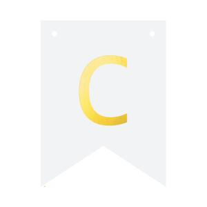Literki do girlandy DIY - Baner DIY - litera C