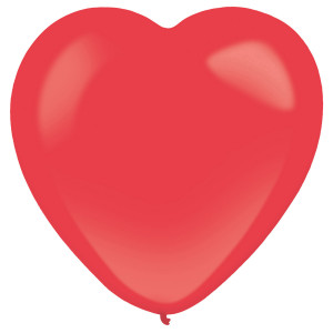 """Balony lateksowe o nietypowych kształtach - Balony lateksowe Serca """"Decorator"""" Standard Apple Red / 12""""-30 cm"""