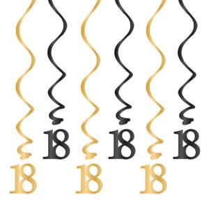 Spiralki wiszące - Dekoracja na 18 urodziny - świderki