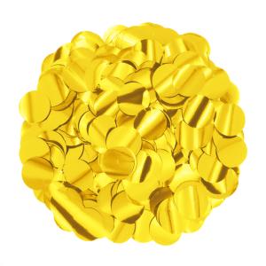 Konfetti kropki - Konfetti foliowe 15 g - złote