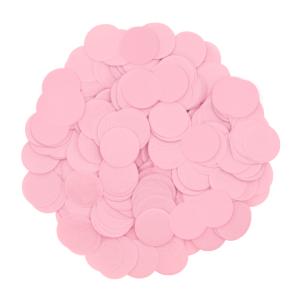 Konfetti kropki - Konfetti papierowe 15 g - różowe