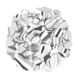 Konfetti kropki - Konfetti foliowe 15 g - srebrne