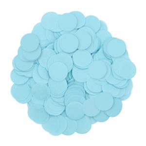 Konfetti kropki - Konfetti papierowe 15 g - błękitny