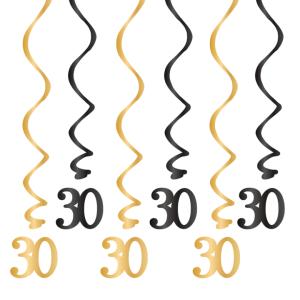Spiralki wiszące - Dekoracja na 30 urodziny - świderki
