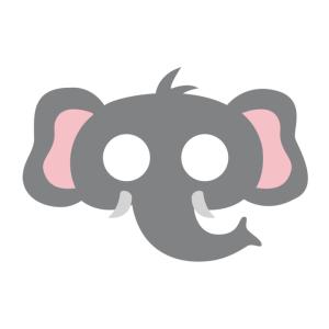 Maski Zwierzęta - Maska filcowa Słoń