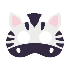 Maski Zwierzęta - Maska filcowa Zebra