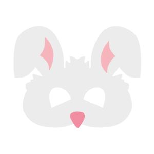 Maski Zwierzęta - Maska filcowa Królik