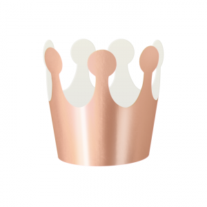 Korony - Zestaw koron papierowych rose gold