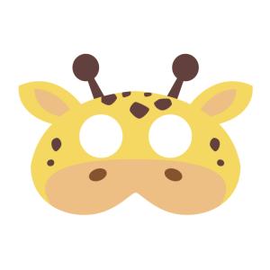 Maski Zwierzęta - Maska filcowa Żyrafa