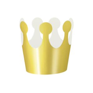 Korony - Zestaw złotych koron papierowych