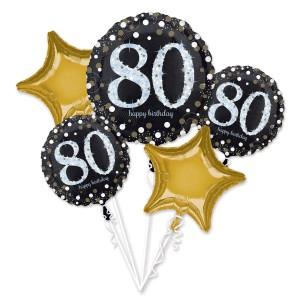 Zestawy balonów na urodziny dorosłych - Zestaw balonów na 80 urodziny / 3787901