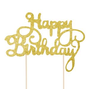 Świeczki i toppery z napisami na tort urodzinowy dla dorosłych