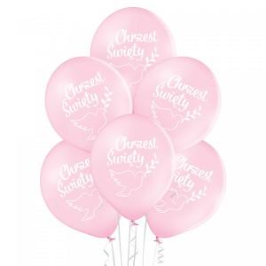 Balony na Chrzest Święty - Balony Chrzest Święty  - różowe