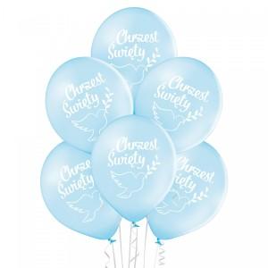 Balony na Chrzest Święty - Balony Chrzest Święty - niebieskie