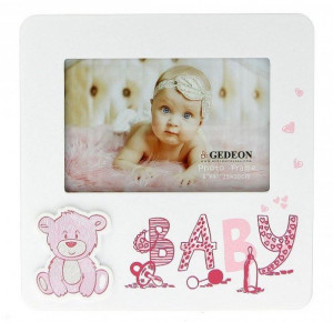 """Ramki na zdjęcia - Ramka """"Baby"""", różowa / 15x10 cm"""