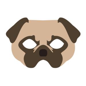Maski Zwierzęta - Maska filcowa Pies