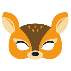 Maski Zwierzęta - Maska filcowa Sarenka