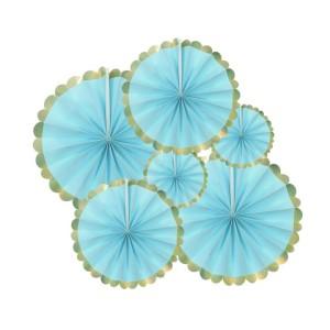 Rozety dekoracyjne - Zestaw niebieskich rozet
