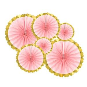 Rozety dekoracyjne - Zestaw różowych rozet