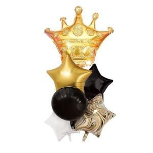 Zestawy balonów na urodziny dorosłych - Zestaw balonów z koroną / 460403