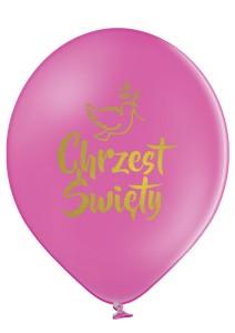 """Balony na Chrzest Święty - Balony lateksowe fuksjowe """"Chrzest Święty"""" / 30 cm"""